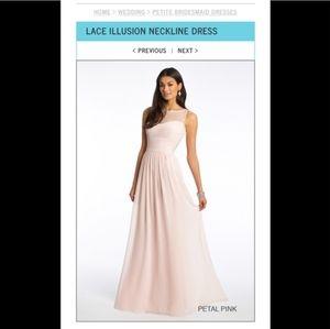 Blush pink bridesmaid's dress